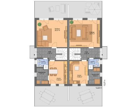 clevere mieter gesucht doppelhaush lfte biberach 2e54w4h. Black Bedroom Furniture Sets. Home Design Ideas