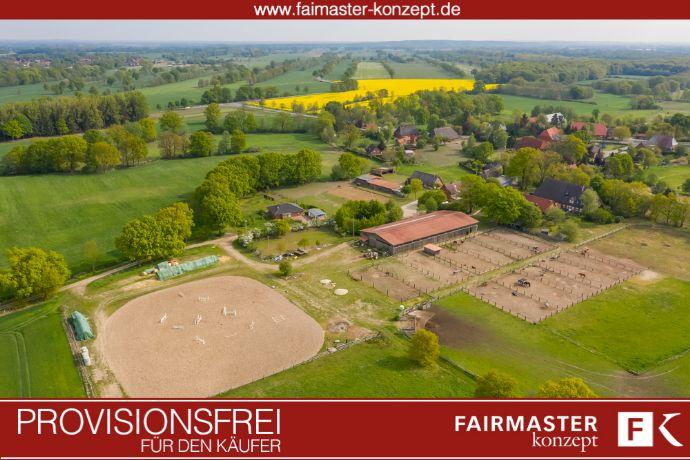 +++ 8,4 ha Reitanlage bei Lüneburg mit Wohnhaus, Wohnung, Reithalle, Scheune,27 Pferdeboxen,....+++ Reitanlage kaufen Niedersachsen