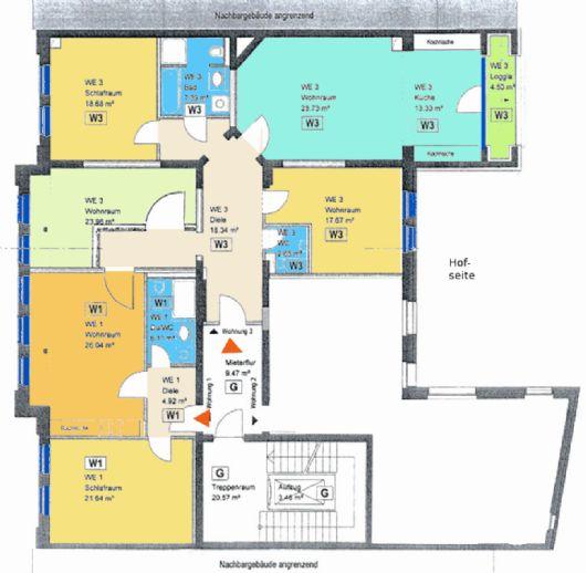 Mitten in der Stadt - Große und moderne 6 Raumwohnung mit Balkon & Fahrstuhl