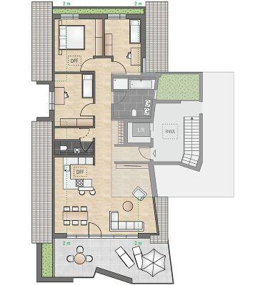 baubeginn erfolgt au ergew hliche dg wohnung mit gro z gigem wohn essbereich und dachterrasse. Black Bedroom Furniture Sets. Home Design Ideas