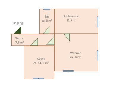 Grundriss (Abbildung ähnlich)
