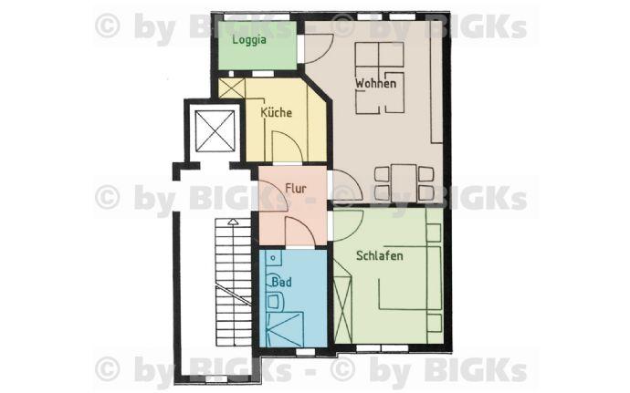 Suhl-Innenstadt Zweizimmerwohnung mit Balkon und Aufzug