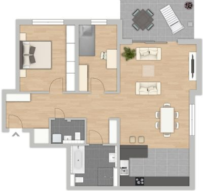 3 zimmerwohnung in attraktiver innenstadtlage wohnung wiesloch 2k2cq42. Black Bedroom Furniture Sets. Home Design Ideas