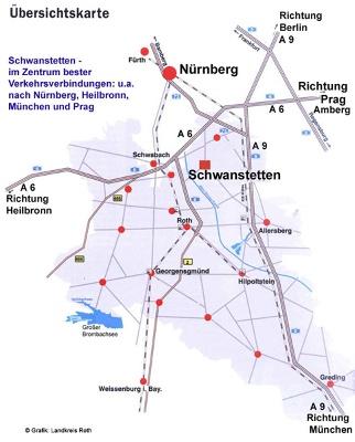 Karte: Verkehrsgünstig gelegen