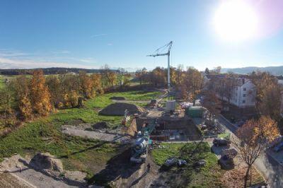 Luftansicht Baustand 28. Oktober 2015