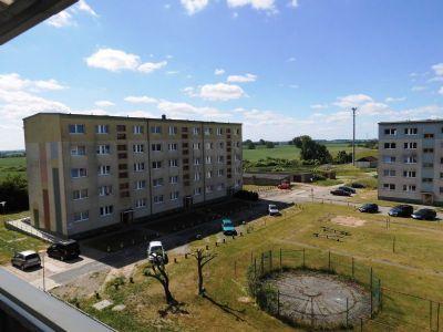 """Balkonblick auf das Wohngebiet """"Keulweg"""" und das B"""
