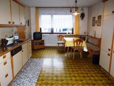 Die Wohnküche im Erdgeschoss