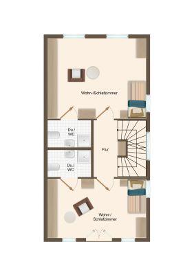 Obergeschoss, 2 Zimmer