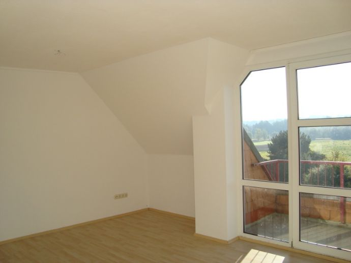 Großzügige 2-Raum-Wohnung im Dachgeschoss mit Balkon