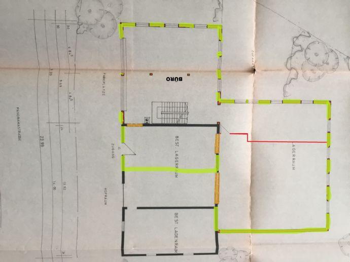 Büro (ca. 95-400m²) mit Lagerfläche und Ausstellungsraum (ca. 50-250m²) // auch als Oldtimergarage nutzbar
