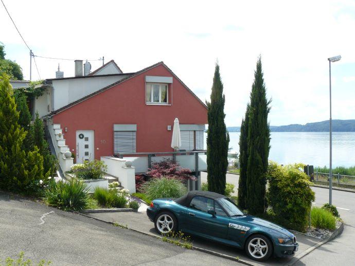 Ferienhaus, Seesicht pur von allen 3 Wohnungen, m. Strand