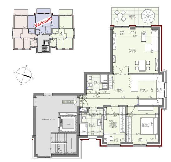 Schönes Neubau 3 Raum Apartment in Hamburg Lohbrügge (h3we6)