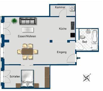 Nachmieter gesucht! 2-Zimmer-Wohnung mit geschenkter Küche.