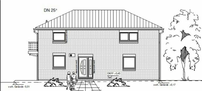 Baugrundstück, voll erschlossen, mit Baugenehmigung für ein Einfamilienhaus zu verkaufen!