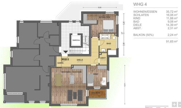 Exklusive Neubauwohnung in ruhiger aber zentraler Lage von Eidelstedt