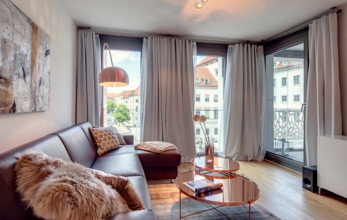 Pfungstadt, Teil-möblierte 2-Zimmer-Wohnung mit Terrasse