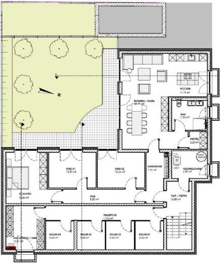 **RESERVIERT**Gehobene 4 ZKB Wohnung im Souterrain mit Garten in einem Neubau mit 4 WE **Provisionsfrei**