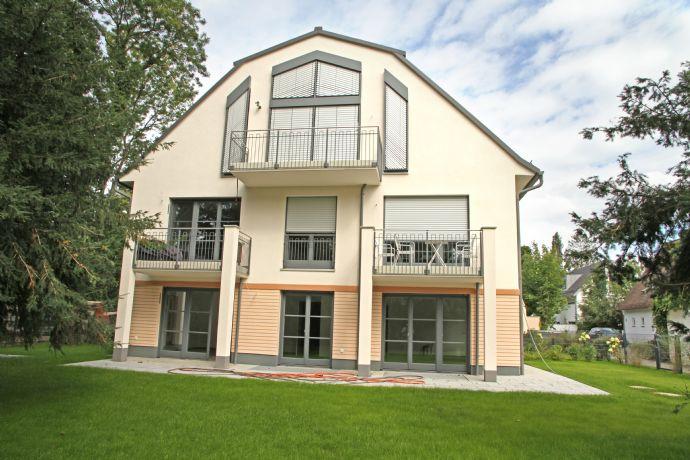 Idylle pur! Wohnen mit 500 m² Traumgarten - Neubau direkt an der Würm in Obermenzing