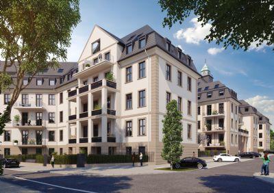 Schicke 4-Zimmer mit 2,95 Meter Raumhöhe im Wohn-/Essbereich und ~ 30qm großer Balkon