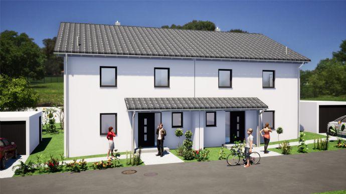 Doppelhaushälfte mit Blick auf die Lautertburg