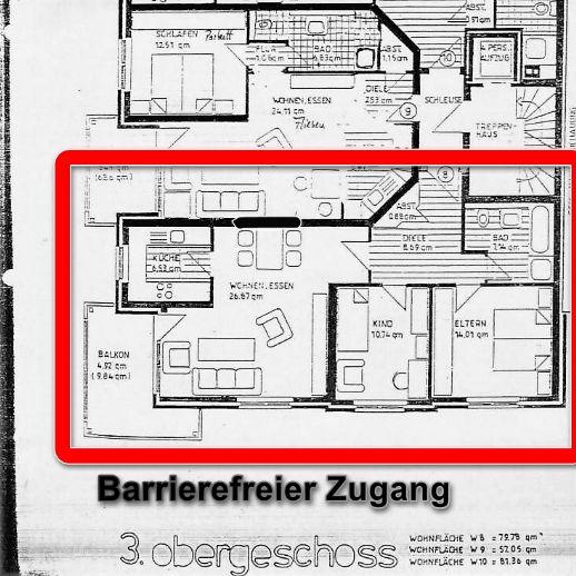 3 Zimmer Wohnung in MG - Wickrath barrierefrei