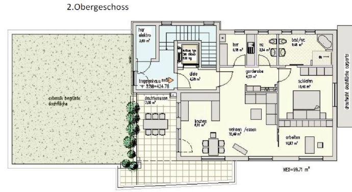 Komfort-ETW mit Dachterrasse