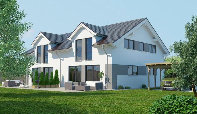 **VERKAUFT**Niedrigenergie Doppelhaushälfte in Massivbauweise, Grundstück 660 m², Bodenplatte