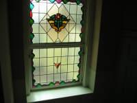 Willkommen!  Fenster im Treppenhaus