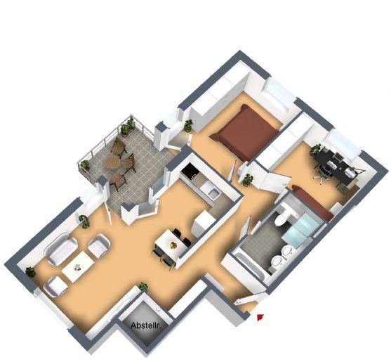 ruhige 3-Zimmerwohnung in Konstanz-Dettingen