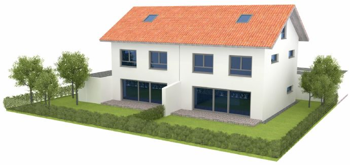 Neubau-Doppelhaushälften in Osterhofen (Am Wasserturm)
