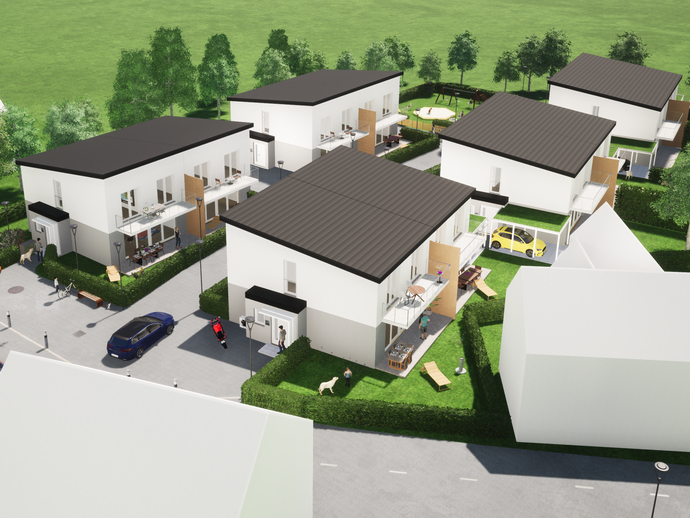 ***NEUBAU***KFW-55-Wohnanlage mit 10 Doppelhaushälften in Coburg Lützelbuch***
