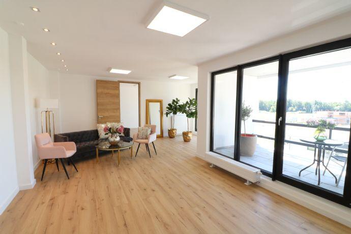 Möbliertes Apartment mit Panoramablick ins Grüne