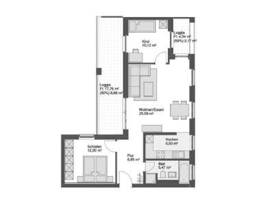 entschleunigen im eigenen garten moderne 3 zimmer erdgeschosswohnung mit gro em wohn. Black Bedroom Furniture Sets. Home Design Ideas