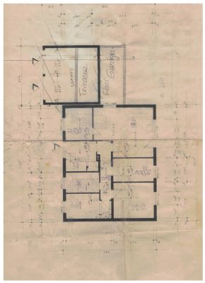 Grundriss Erdgeschoss- Hauptwohnung