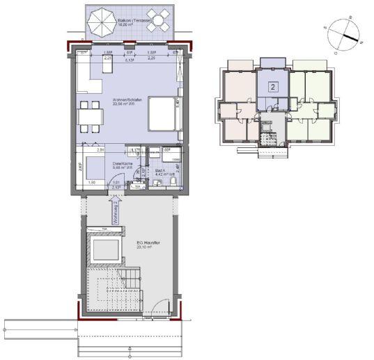 Behns8W2 - Erstbezug! - Komfortable 1 Raum-Neubauwohnung in Hamburg Lohbrügge