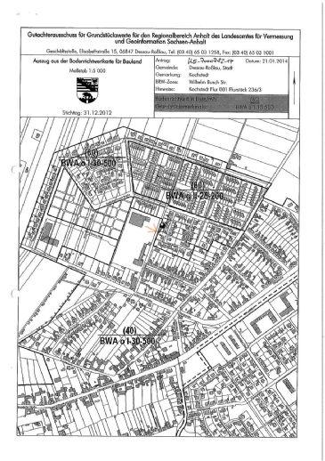 Dessau-Kochstedt - Kleines Baugrundstück für Doppelhaushälfte gegen Gebot zu verkaufen!