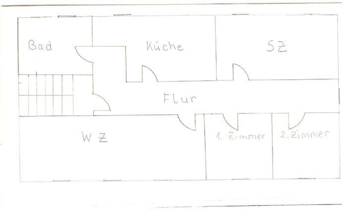 4 Zimmer Dachgeschoss Wohnung auf