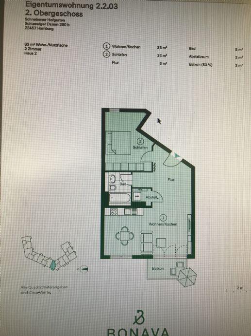Erstbezug Schnelsen 2-Zimmer-Wohnung in guter Lage