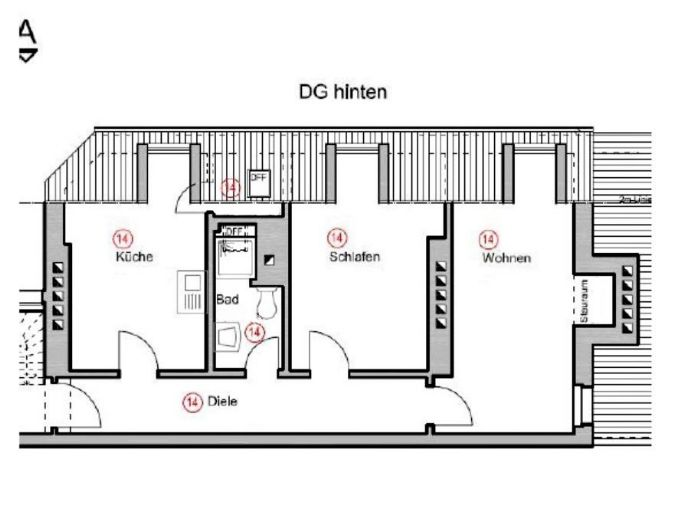 2-Zimmer-Wohnung in Koblenz Süd, WG geeignet