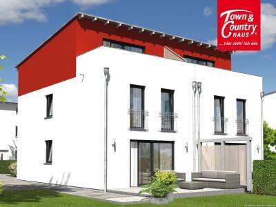 Doppelhaus Mainz modern mit Dachterrasse