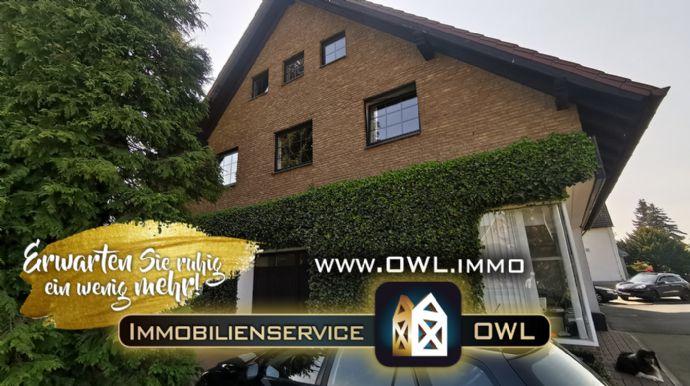 ::: Perfekt für Firmengründung und Wohnen unter einem Dach : 1 FMH mit Gewerbeteil im Zentrum von Löhne/Ort :::