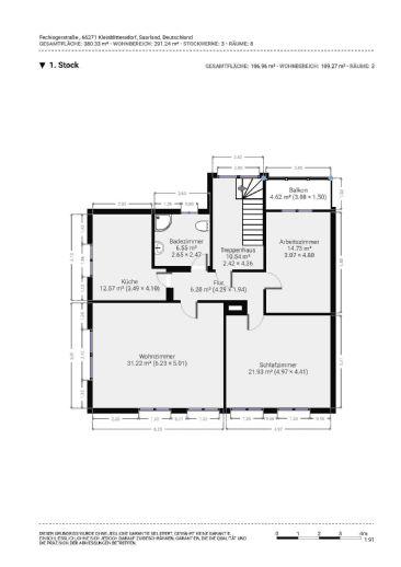 Wohnen in Kleinblittersdorf 3-Zimmer-Wohnung zu