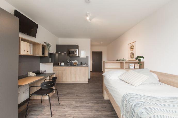 Möblierte Zimmer - Gemeinschaftsbereiche - Zentrale Lage