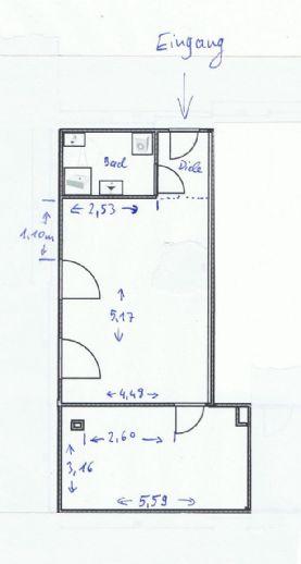 2-Zimmer-Wohnung im 1. Obergeschoss in Deggendorf zu vermieten