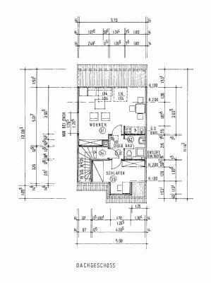 Grundriss Einliegerwohnung Dachgeschoss