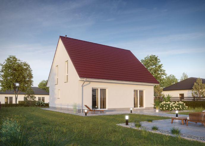 Massivhaus Radeberg inklusive Fußbodenheizung, elektrische Rolläden und Luftwärmepumpe