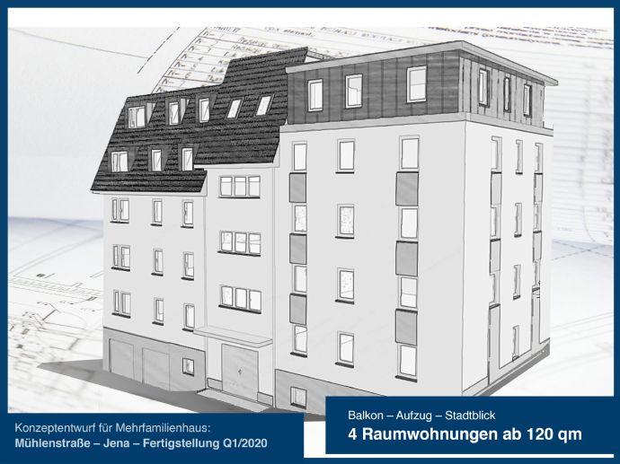 4-Raum Wohnungen ab 120 qm - Neubau Mehrfamilienhaus in Zentrumsnähe mit unverbauten Blick