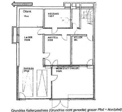 Grundriss Werkstatt/Garage/Keller