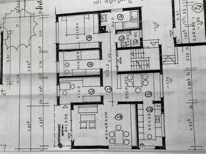 3 5-Zimmer-Wohnung mit Balkon bezugsfertig
