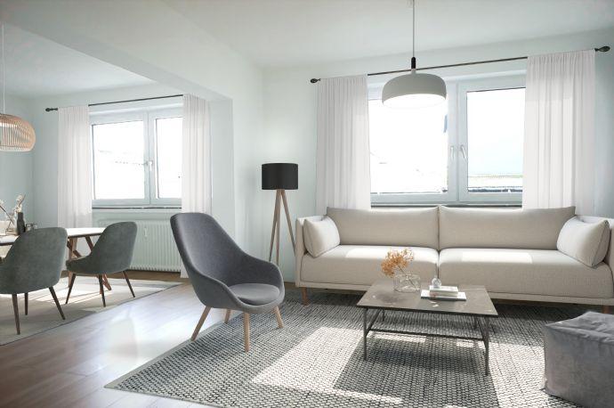 Schöne Wohnung mit Einbauküche in ruhiger Seitenstraße